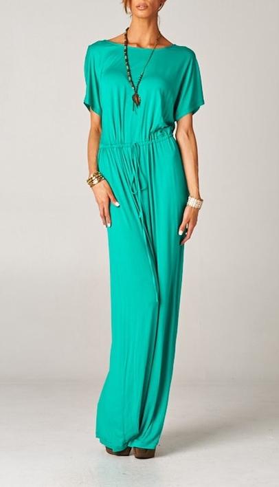 Dolman Boyfriend Drawstring Maxi Dress (TALL)