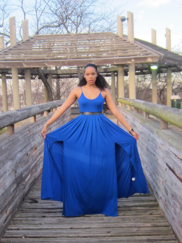 Height Goddess Royal Blue Dress 2