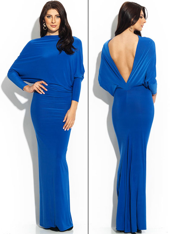 Draped Crusader Reversible Maxi Blue