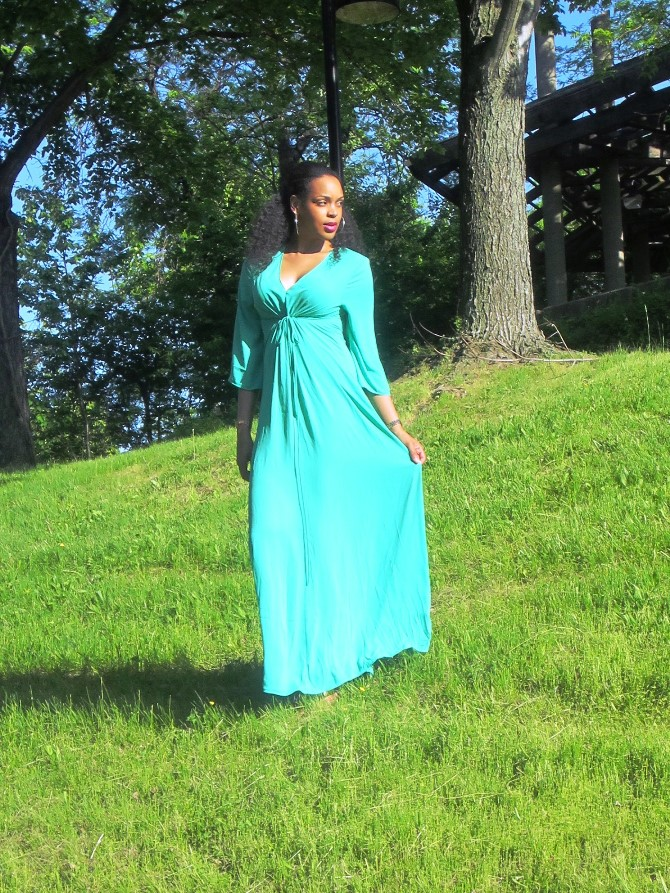The Shoxie Collection JADE CINCHED FRONT MAXI DRESS
