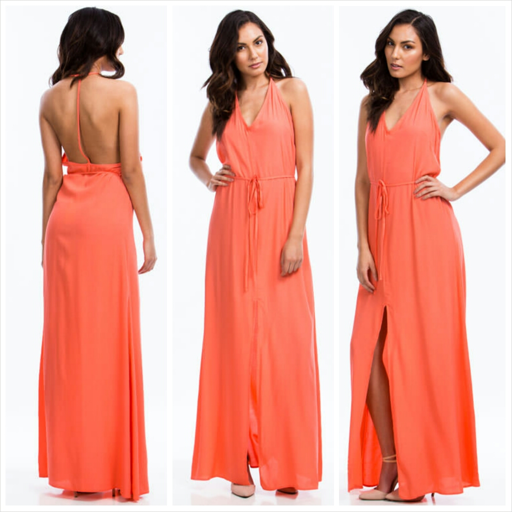 Show Me Your T-Back Maxi Dress