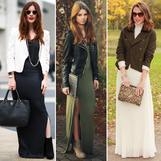 Long maxi dress with jacket