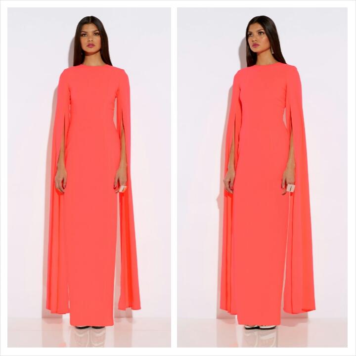 AQAQ Enigma Maxi Dress Neon Pink