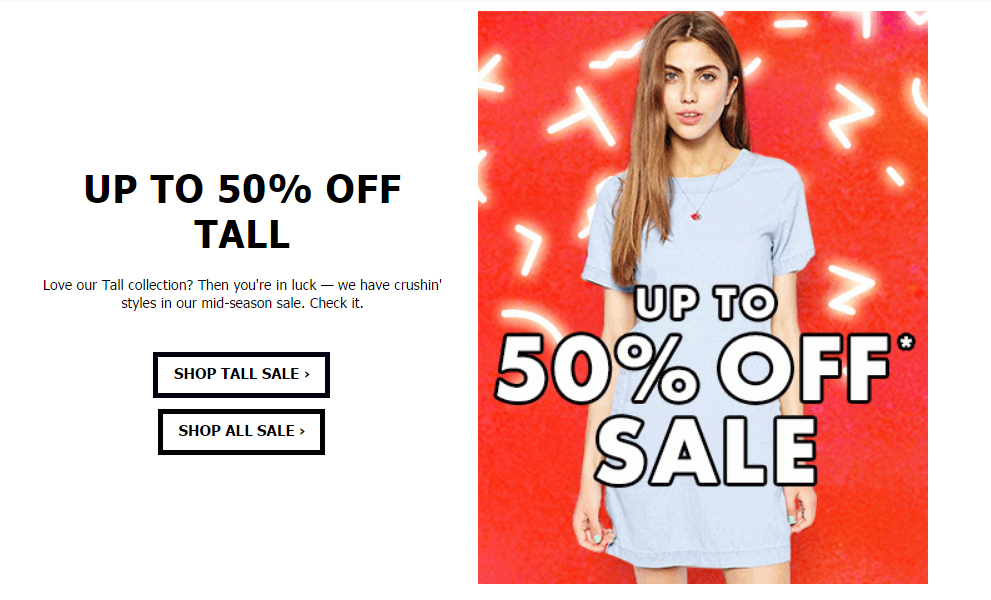 ASOS Tall Sale