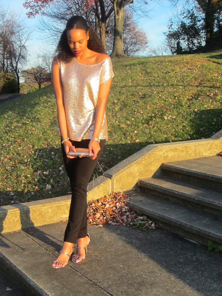 Long Tall Sally Sequin Front Jersey Top 10