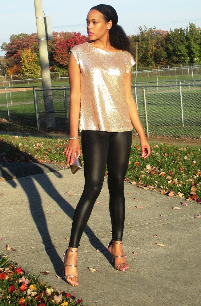 Long Tall Sally Sequin Front Jersey Top 4