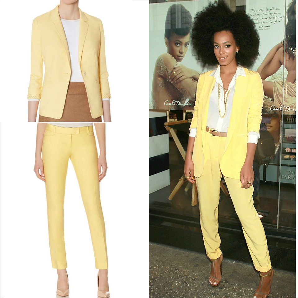 Tall-women-suit-yellow