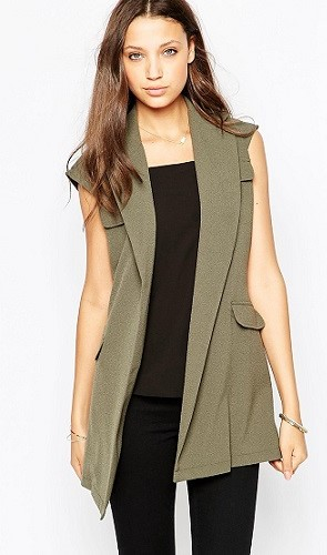 ASOS TALL Sleeveless Trench Jacket