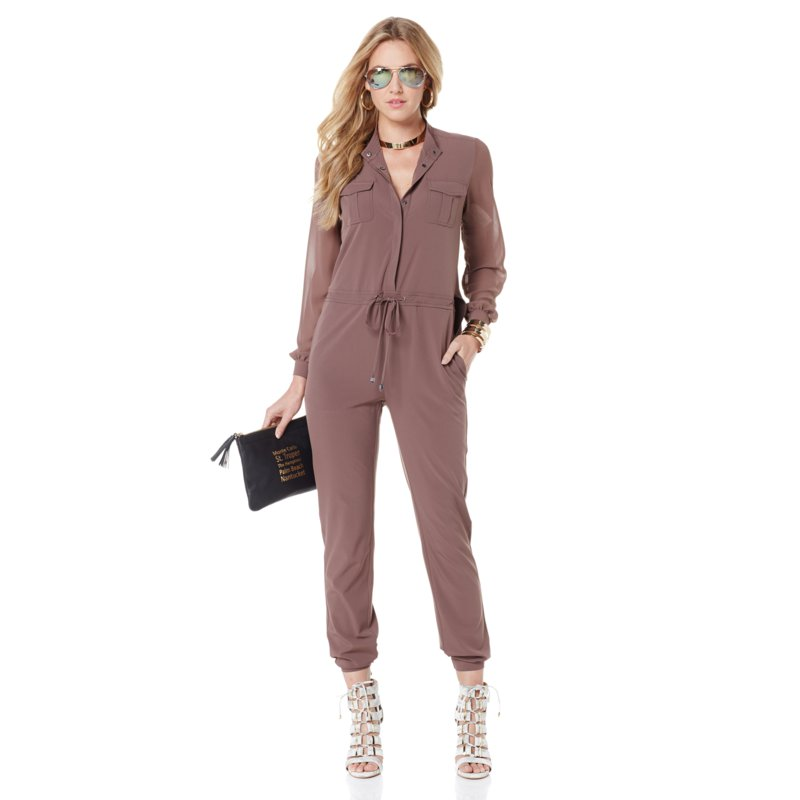 NENE by NeNe Leakes Georgette-Sleeve Jumpsuit