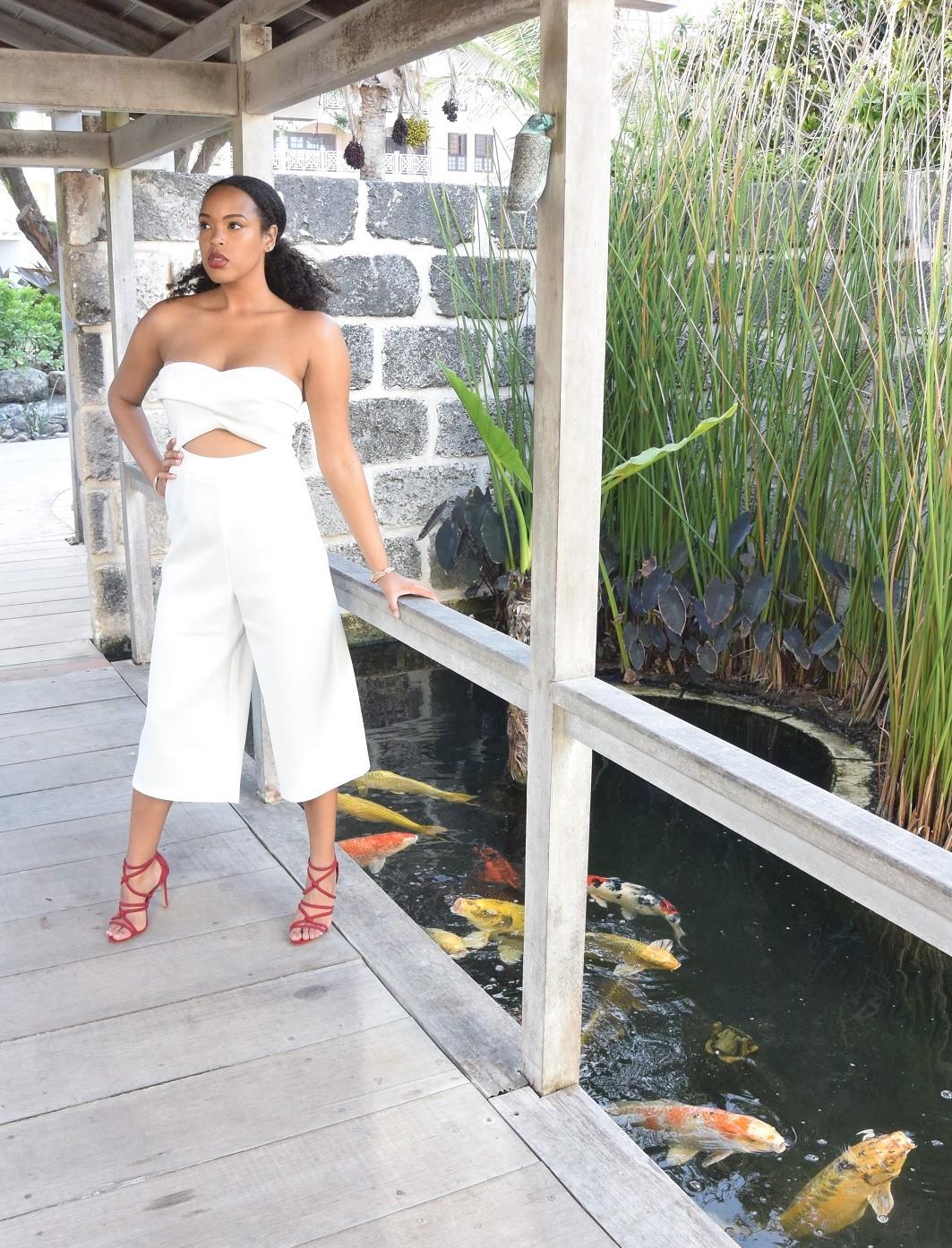 ASOS TALL Premium Occasion Bandeau Jumpsuit Tall Culottes Jumpsuit
