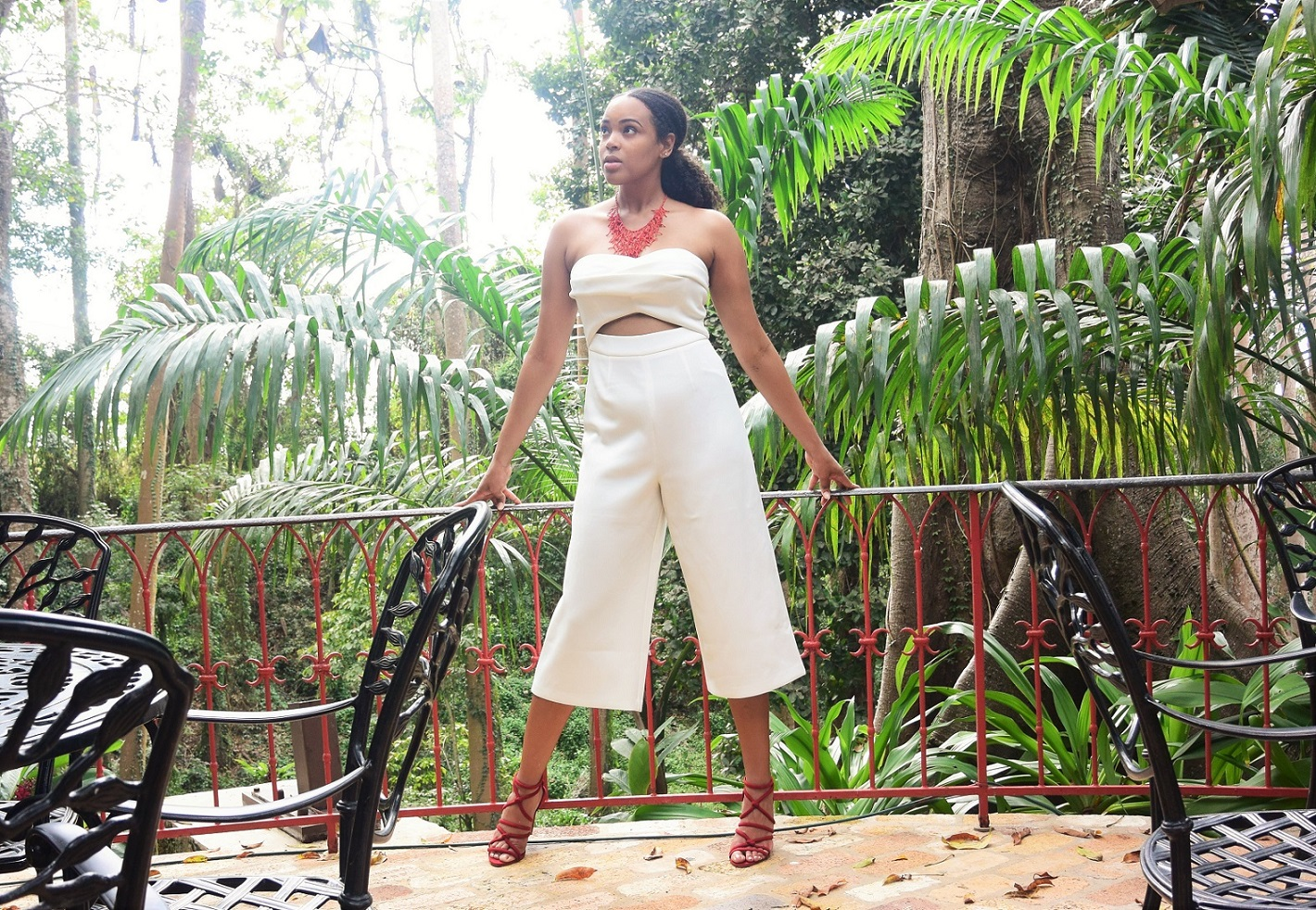 Tall Blogger The Tall Muse ASOS TALL Premium Occasion Bandeau Jumpsuit Tall Jumpsuit