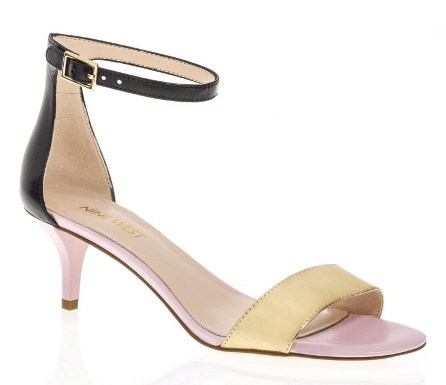 NINE WEST LEISA KITTEN HEEL SANDAL