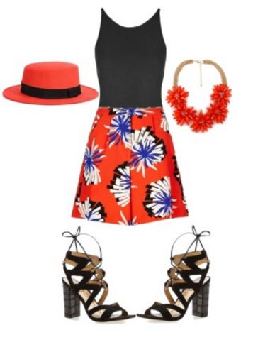 TTYA X LTS Origami Flower Shorts Outfit 2
